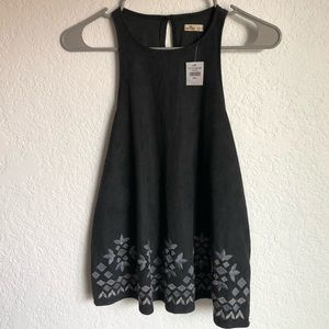 Hollister Faux Sweater Floral Tank Top